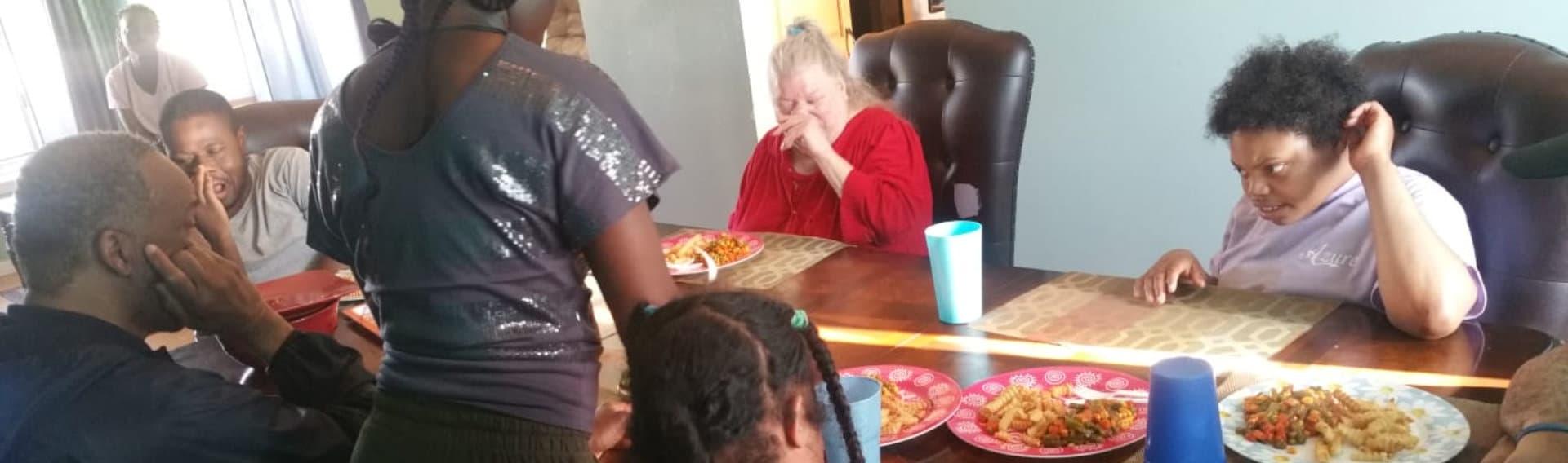 elderlies eating